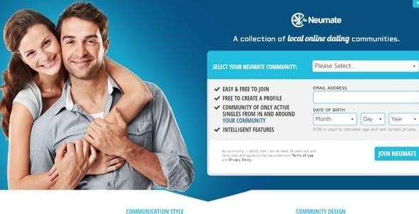 Screenshot of Neumate's homepage