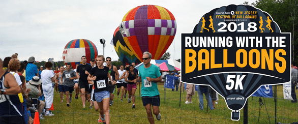 Screenshot of Running With the Balloons 5K poster