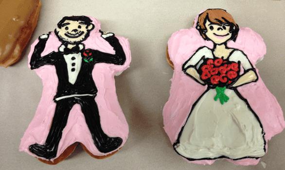 Photo of Voodoo Doughnut wedding doughnuts