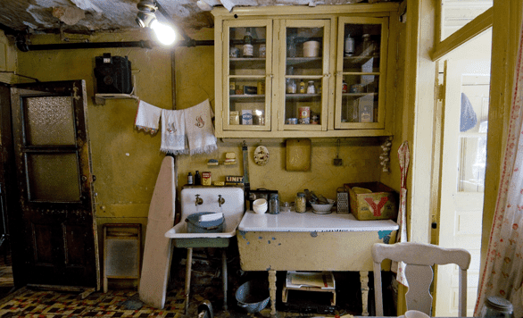 Photo of Tenement Museum recreation of immigrant life