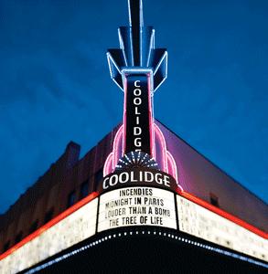 Photo of the Coolidge Corner Theatre marquee