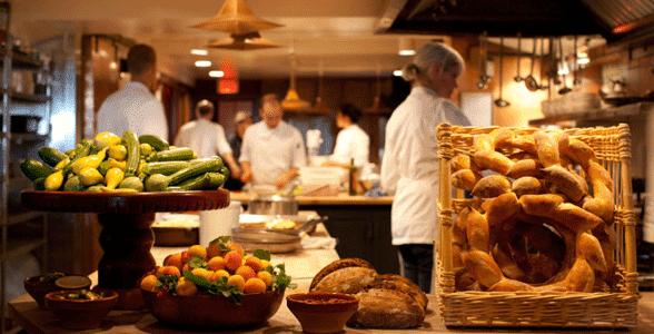 Photo of the Chez Panisse kitchen