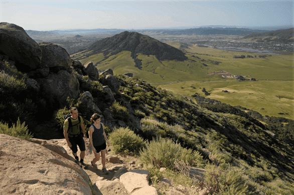 Photo of a mountain trail near San Luis Obispo, California