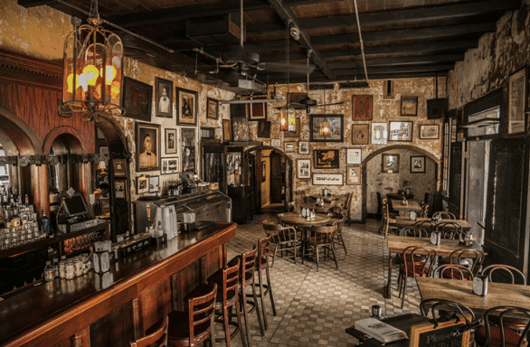 Photo of the inside of the Napoleon House