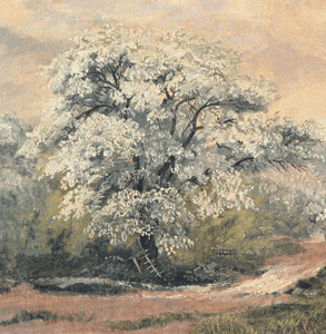 Apple Blossoms at Olana painted by Frederic Edwin Church