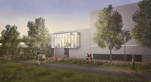 Artist's rendering of the Tacoma Art Museum's new Benaroya Wing