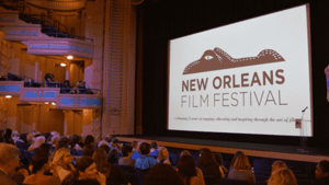 Photo of a film screening at the New Orleans Film Festival