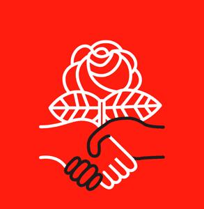 Photo of the Democratic Socialists of America logo