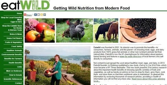 Screenshot of Eatwild.com