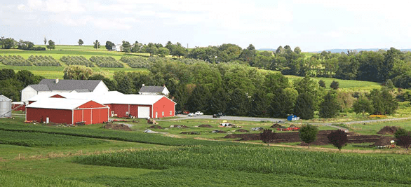 Photo of the Rodale Institute farm