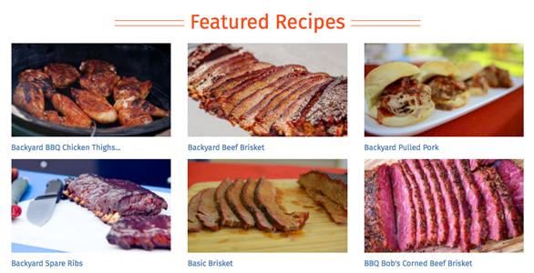 Screenshot of ShareMyCook.com recipes