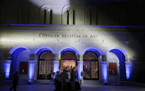Photo of the exterior of the Chrysler Museum of Art
