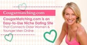 CougarMatching.com is an Easy-to-Use Niche Dating Site That Connects Older Women & Younger Men Online