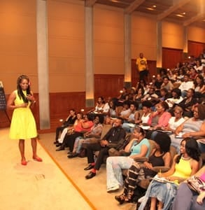 Photo of a master class at the American Black Film Festival