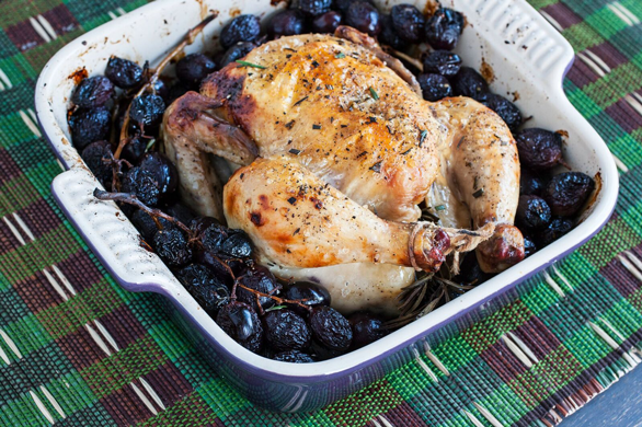 Photo of Rosemary Roasted Game Hen With Roasted Grapes