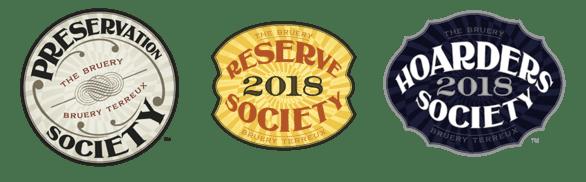 Photos of The Bruery Society logos