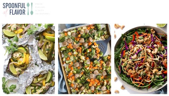 Screenshot of the Spoonful of Flavor website
