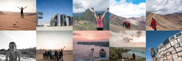 Screenshot of a photo collage from Be My Travel Muse