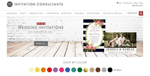 Screenshot of the Invitation Consultants website
