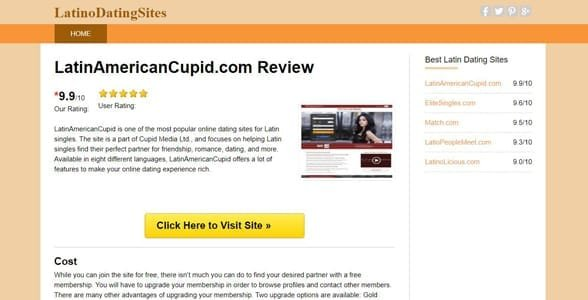 Screenshot of a LatinoDatingSites.org review