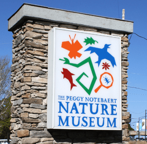 Photo of a Peggy Notebaert Nature Museum sign