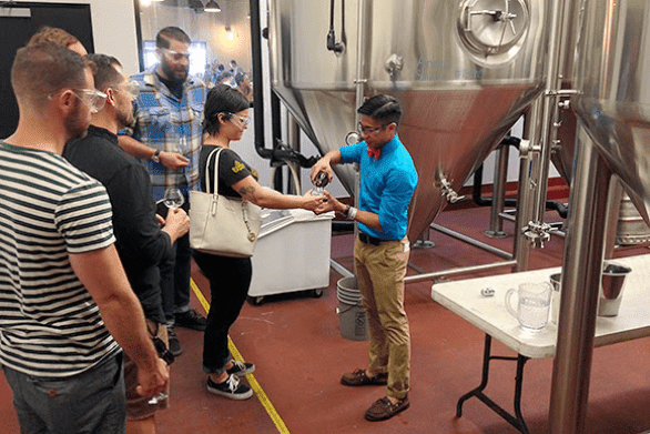 Photo of a group touring The Bruery