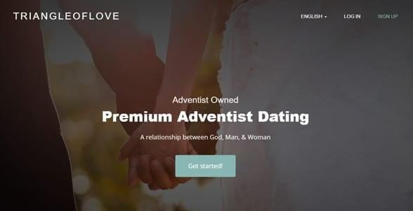 Screenshot of Triangle of Love's homepage