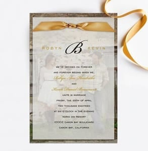 Photo of a wedding invitation designed by Invitation Consultants