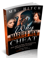 "Photo of Ms. Hitch's book, ""Why Married Men Cheat"""