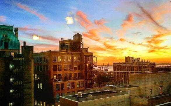 Photo of the view from Chamin Ajjan's office in New York City