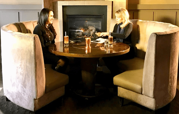 Photo of Krystal Walter at a table