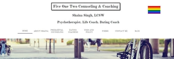 Screenshot of Shaina Singh's website