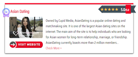 Screenshot of the homepage review on AsianDatingWebsites.net