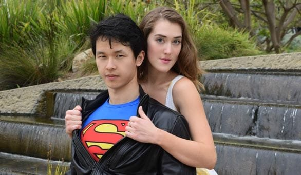 Photo of an Asian man with a white female