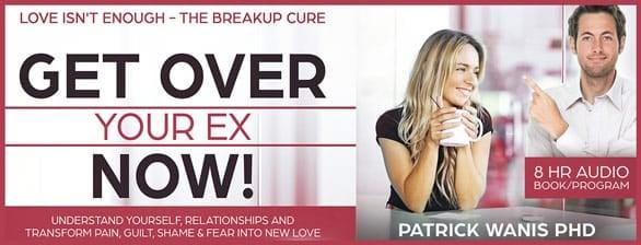 """Get Over Your Ex Now!"" audiobook banner"