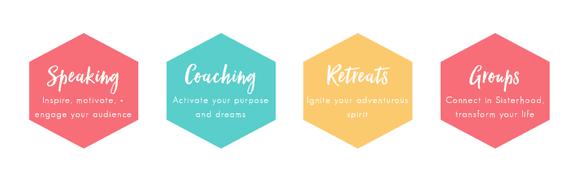 Screenshot of Carin Rockind's coaching options