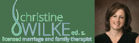 Photo of Christine Wilke and her logo