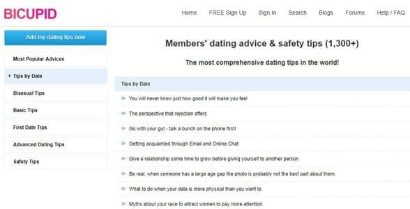 Screenshot of BiCupid's forum