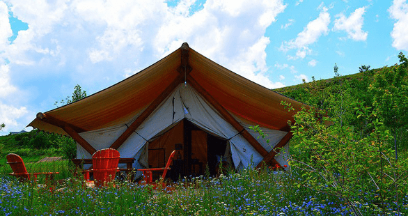 Photo of a glamping site