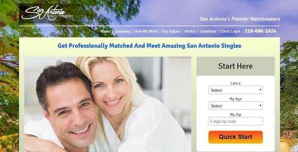 Screenshot of the San Antonio Matchmakers website