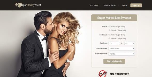 Screenshot of SugarDaddyMeet.com