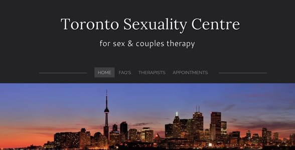 Screenshot of the Toronto Sexuality Centre website
