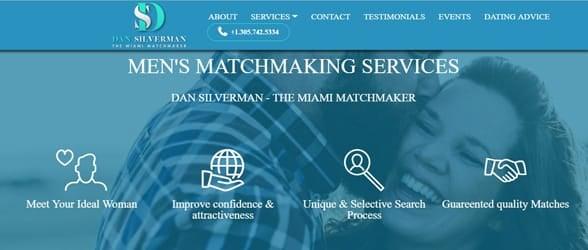 Screenshot of the Miami Matchmaker website