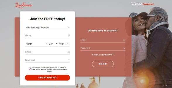 Screenshot of LoveSwans.com
