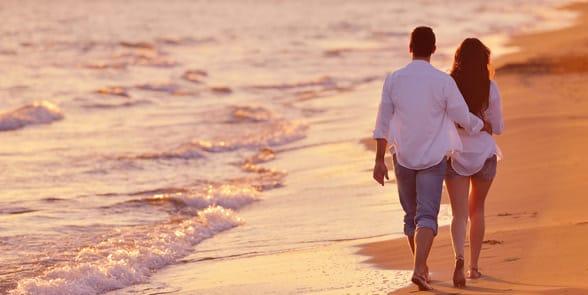Photo of a couple on a beach