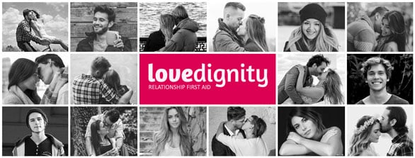 Screenshot of LoveDignity.com banner