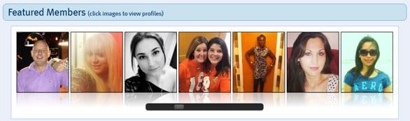 Screenshot of ILoveYourAccent.com featured member profiles