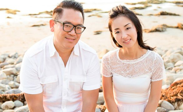 Photo of M8 Co-Founders Stephen Liu and his wife Linda Kim