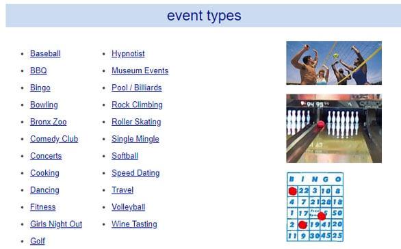 Screenshot of Weekend Dating activities