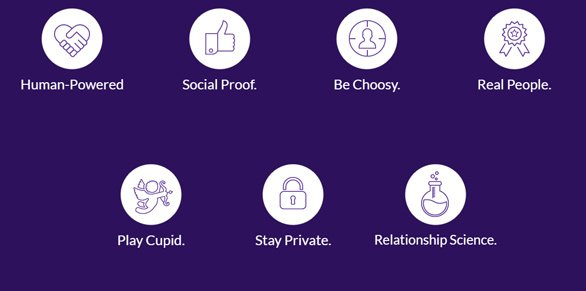 Screenshot of M8 app benefits